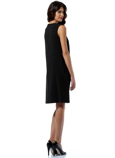 KAF'dan by Elaidi Kolsuz Kısa Elbise Siyah